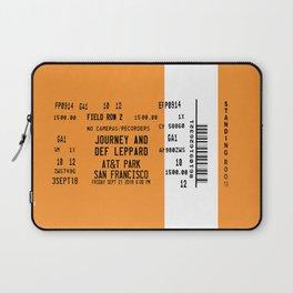 Concert Ticket Stub - Journey at AT&T Park - SF ORANGE Laptop Sleeve