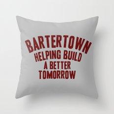 Bartertown redux Throw Pillow