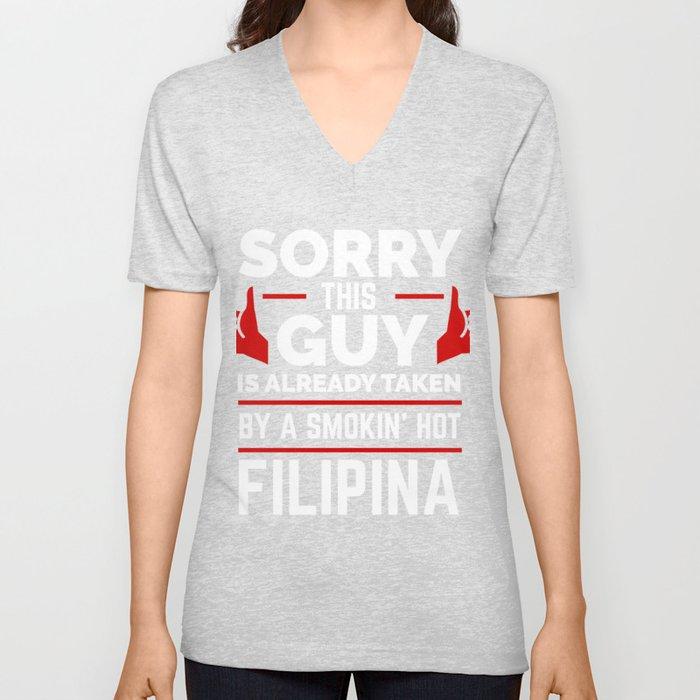 Sorry Guy Already taken by Filipina The Philippines Unisex V-Neck