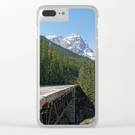 Mountain At My Gate Clear iPhone Case
