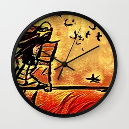 Samurai Woman (Onna-bugeisha) Wall Clock