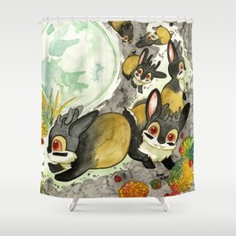 Moonlight (With Jackalopes) Shower Curtain
