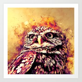 owl portrait 5 wslsh Art Print