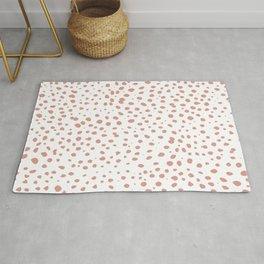 Dalmatian Pink Spots - Minimal Polka Dots Rug