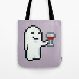 Wine Drinking Ghost - Mother 3 Tote Bag
