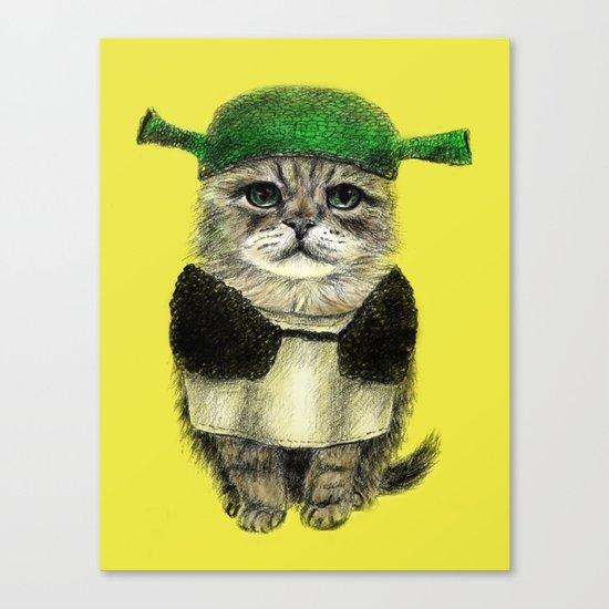 Shreky Cat Canvas Print