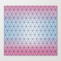 Triangle Pattern, Eternity Triangles, Blue Pink. Worldwide Shipping Canvas Print