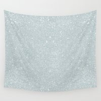 sparkles Wall Tapestries featuring Winter Sparkles by Sarah Harris (Lily and Vine Ltd)