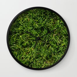 The Grass is Always Greener Right Here Wall Clock
