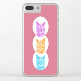 Scrappy the Cat Clear iPhone Case