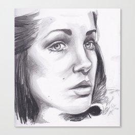 romana (mary tamm) drawing Canvas Print
