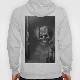 Noir Skeleton Digital Illustration Hoody