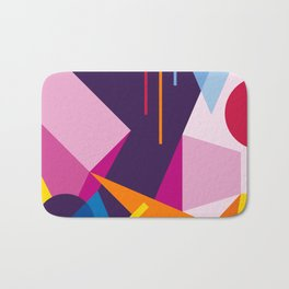 Abstract modern geometric background. Composition 3 Bath Mat