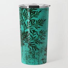 Botanical Turquoise Travel Mug