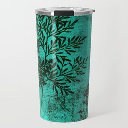 Botanical Turquoise Travel Mug