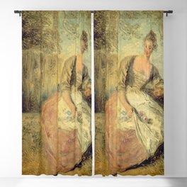 """Antoine Watteau """" L'Amante inquiète (The Worried Lover)"""" Blackout Curtain"""