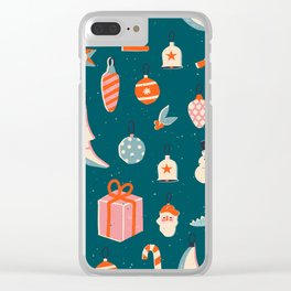 Christmas vintage toys Clear iPhone Case