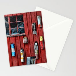 Red Wall Buoy Stationery Cards