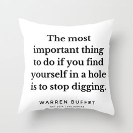 6   | Warren Buffett Quotes | 190823 Throw Pillow