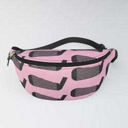 Golf Club Head Vintage Pattern (Pink/Black) Fanny Pack