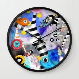 Brainwashing - Good bye Sozialismus - Floating Ideas - BIRDS STRIPED TREE Wall Clock
