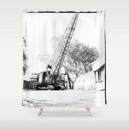 An old crane Shower Curtain