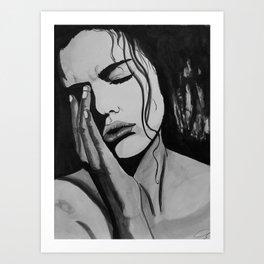 Sad and overthinking Art Print