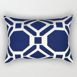 Blue Octagon Pattern Rectangular Pillow