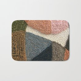 The Straight Path Rug Hooked Artwork Bath Mat