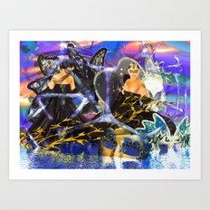 Maskenball Art Print
