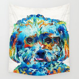Colorful Dog Art - Lhasa Love - By Sharon Cummings Wall Tapestry