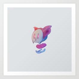 Part of cat Art Print