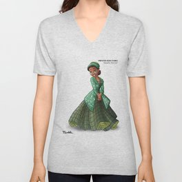 Princess Rosa Parks (Trumble Cartoon) Unisex V-Neck