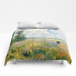 Poppy Fields near Argenteuil by Claude Monet Comforters