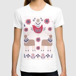 Scandinavian Winter Pattern Beige #society6 #buyart T-shirt