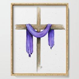 Purple Cross Serving Tray