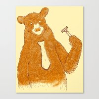 office Canvas Prints featuring Office Bear by Tobe Fonseca