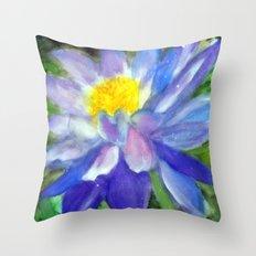 Blue Violet Lotus flower Throw Pillow