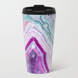 Cotton Candy Agate Slice Travel Mug