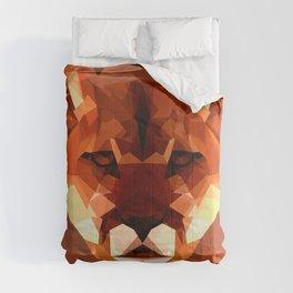Cougar head, wild animal poly print Comforters