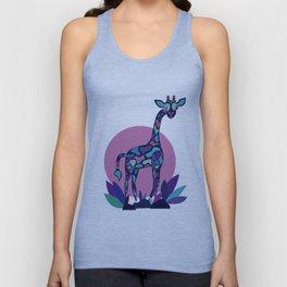 Cute Colorful Giraffe animal portrait Unisex Tank Top