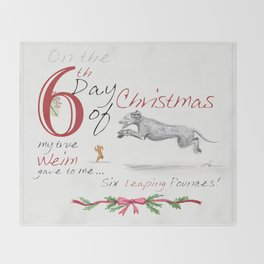 SIXTH DAY OF CHRISTMAS WEIMS Throw Blanket