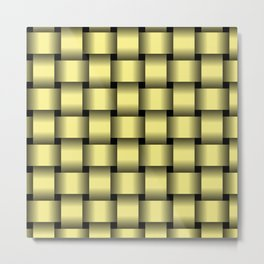 Large Khaki Yellow Weave Metal Print