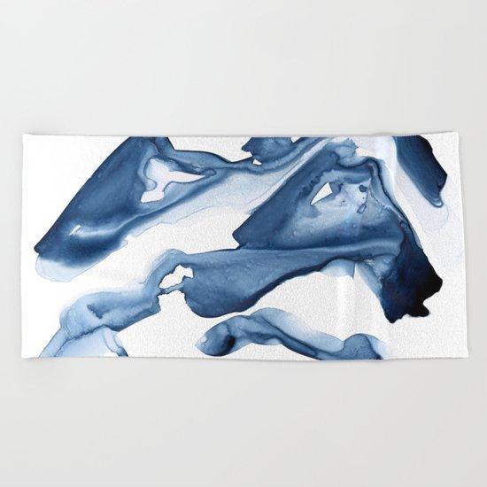 Abstract Indigo no. 3 Beach Towel