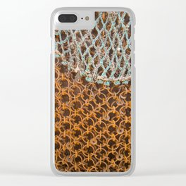 texture - connections Clear iPhone Case