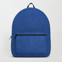 Blue Leather texture Backpack
