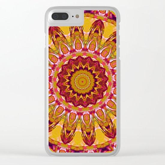 The goldish mandala Clear iPhone Case