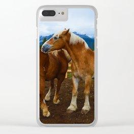 Horses in Jasper National Park, Canada Clear iPhone Case
