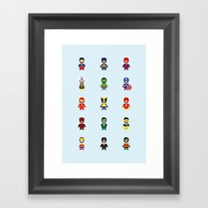 Really Super Marios Framed Art Print