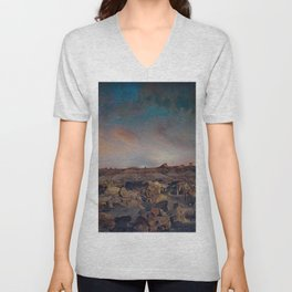 Exploring the Bisti Badlands of New Mexico Unisex V-Neck